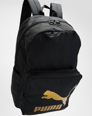 Puma Originals Backpack - Backpacks (Puma Black & Gold)
