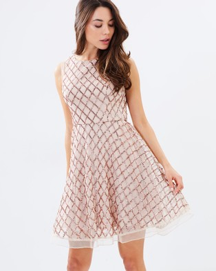 Lumier – Believe With Your Heart Flare Midi Dress Nude