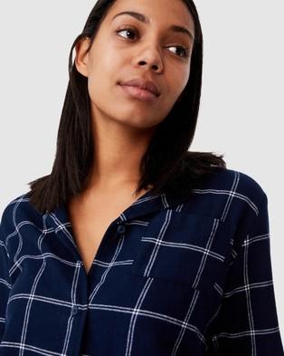 Cotton On Body Flannel Sleep Shirt - Sleepwear (Oversized Check)