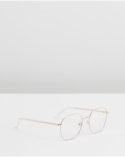 Quay Australia - ICONIC EXCLUSIVE - Jezabell Round Blue Light Glasses