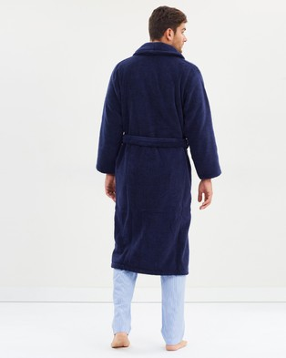 Polo Ralph Lauren Cotton Terry Robe - Accessories (Navy)