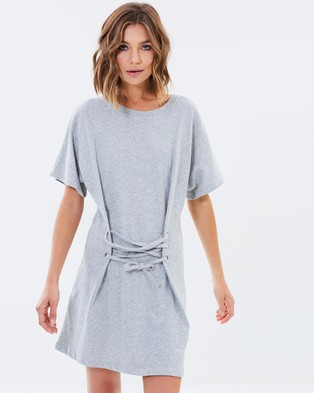 MINKPINK – Corset Sweat Mini Dress – Dresses (Grey Marle)