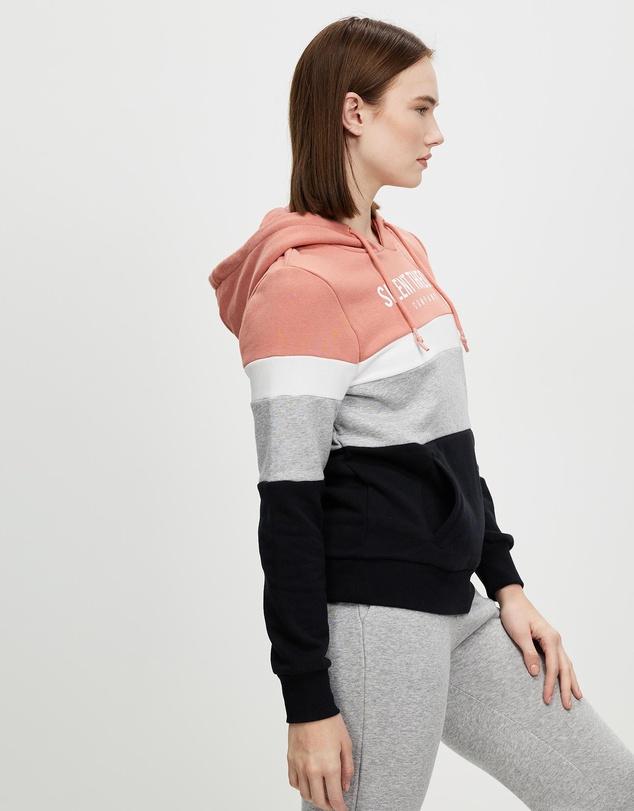 Women Overlay Panelled Hoodie