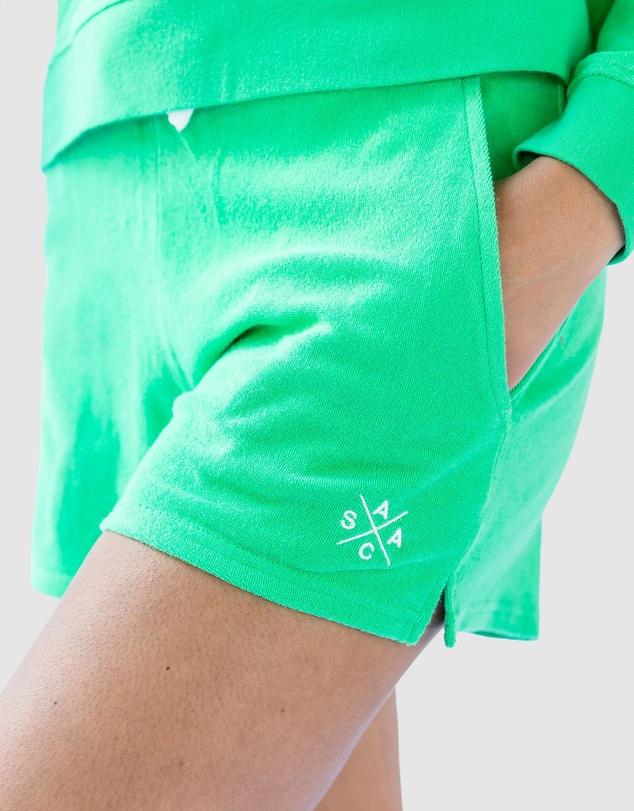Women Andy Cohen Mint Terry Shorts