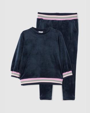 Milky Velour Tipping Sweat & Pants Set   Kids - Sweats (Twilight)