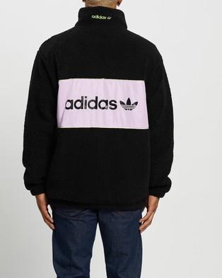 adidas Originals Adventure Sherpa Jacket - Coats & Jackets (Black & Clear Lilac)
