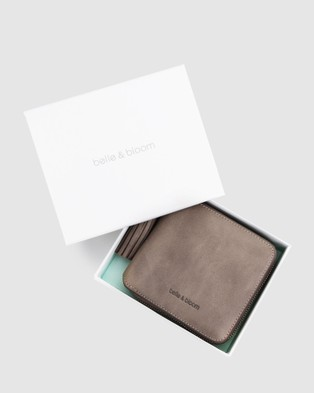 Belle & Bloom Nora Leather Wallet - Wallets (Grey)