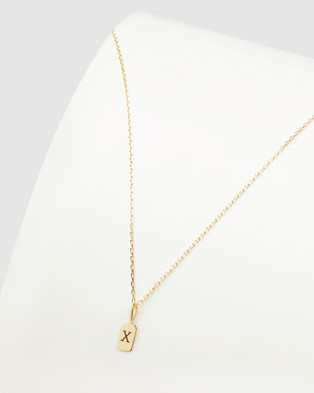 Luna Rae Solid Gold   The Letter X Necklace - Jewellery (Gold)