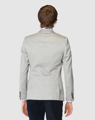 Jack London Grey Textured Blazer - Suits & Blazers (Grey)