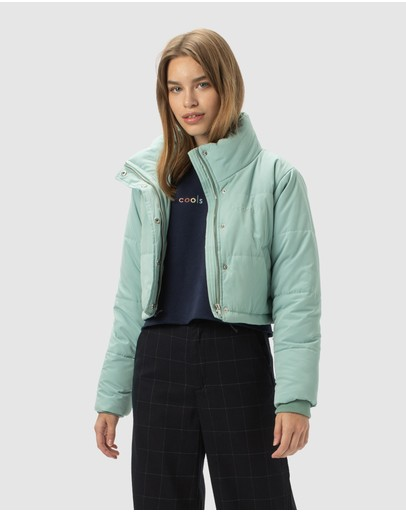 Cools Club Cropped Puff Jacket Sapphire