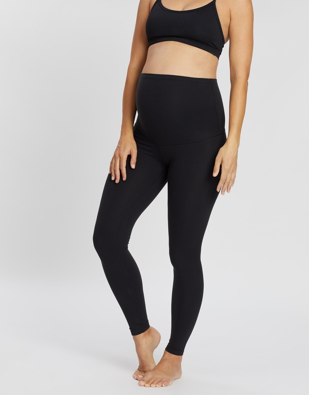 Beyond Yoga - Maternity Empire Waisted Long Tights