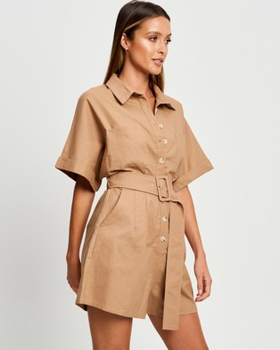 Calli Sofia Playsuit - Jumpsuits & Playsuits (Tan)