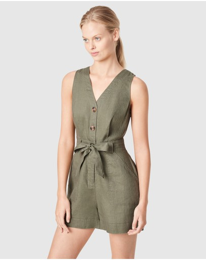 French Connection - Linen Utility Playsuit