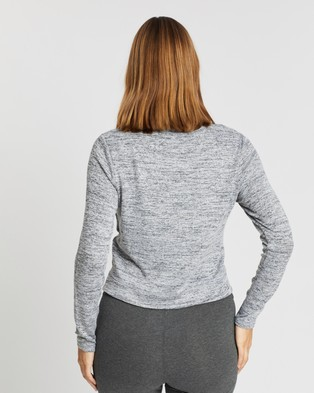 Cotton On Maternity Maternity Cross Over Front Long Sleeve Top - Tops (Grey Twist)