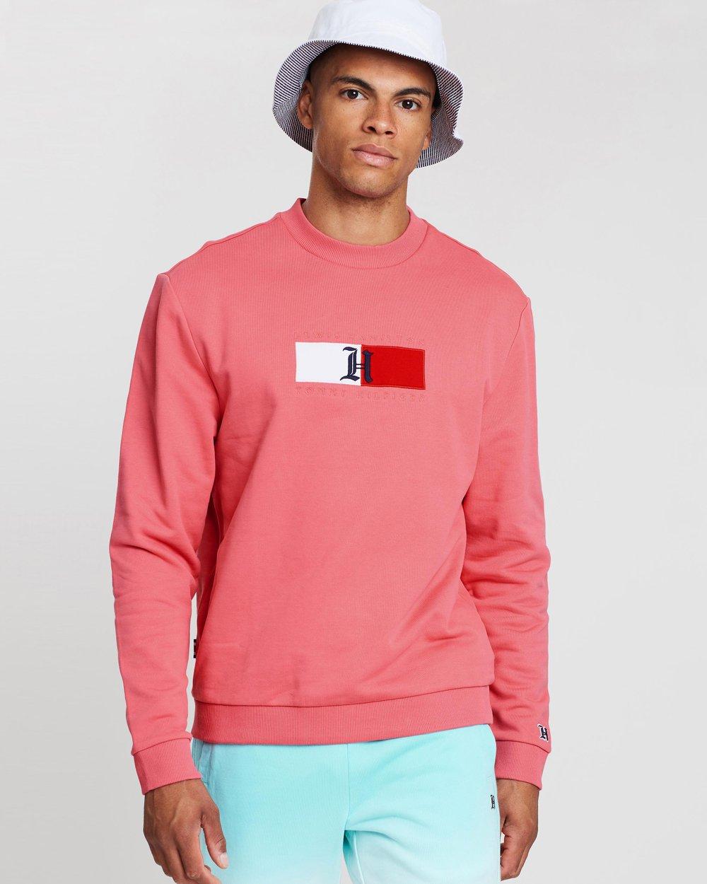 30b77ceca Lewis Hamilton Logo Rib Crew Neck Sweatshirt by Tommy Hilfiger Online | THE  ICONIC | Australia