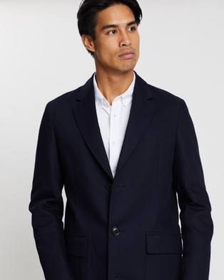 CERRUTI 1881 Cotton Overcoat - Coats & Jackets (Navy)