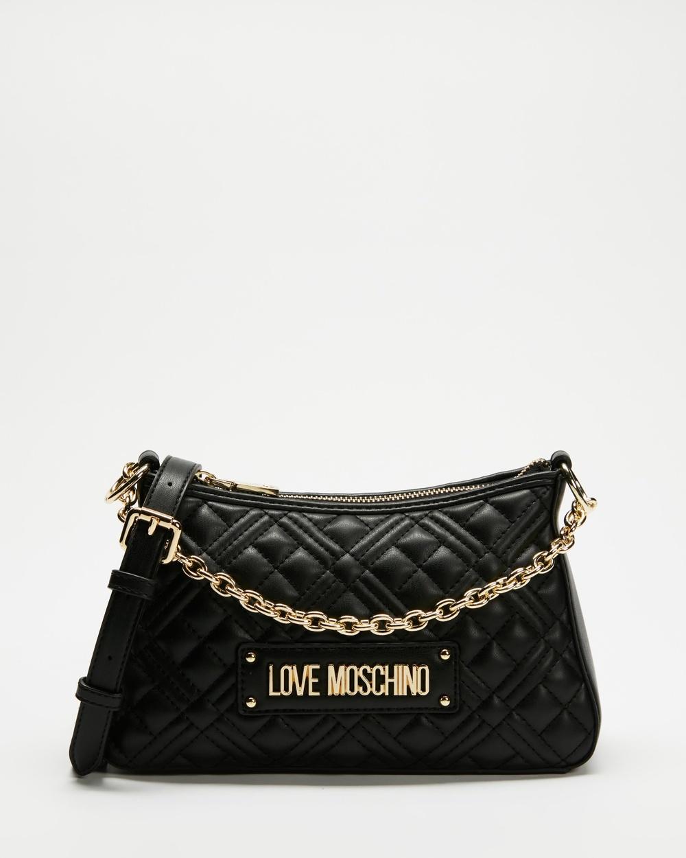 LOVE MOSCHINO Quilted Soft PU Bag Handbags Nero