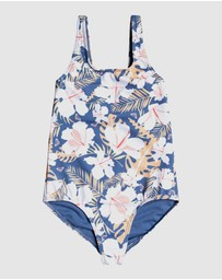 Roxy - Girls 2-7 Swim Lovers One Piece Swimsuit