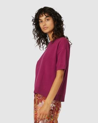 Gorman - Loose Leaf Knit Tee - T-Shirts & Singlets (Pink) Loose Leaf Knit Tee