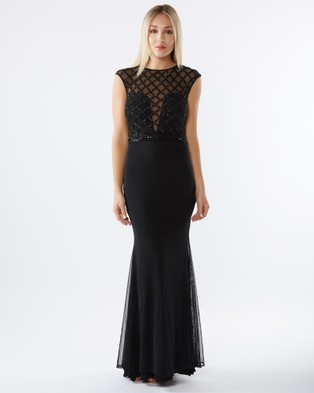PIZZUTO – Cage Gown Black