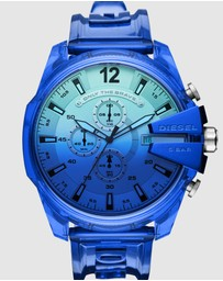 Diesel - Mega Chief Blue Chronograph Watch DZ4531