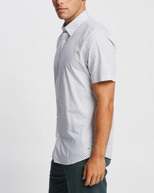 Marcs Kurt SS Shirt - Shirts & Polos (White & Navy )