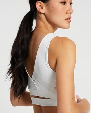 ASICS Ns Lace Bra   Women's - Sports Bras (Brilliant White/Performance Black)