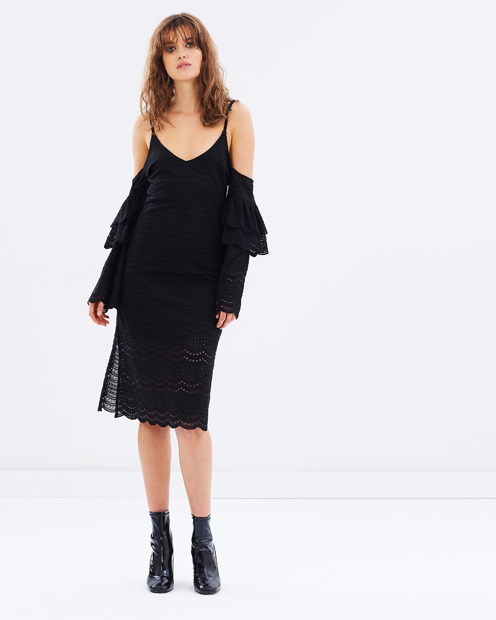 Livingstone Cooper Cecil Midi Dress Dresses Black Cecil Midi Dress