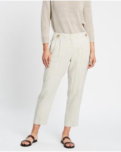 Sportscraft Frida Button Linen Pants String