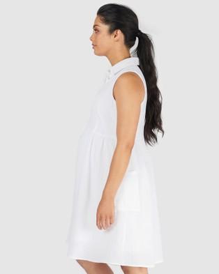 Pea in a Pod Maternity Bria Nursing Dress - Dresses (White)