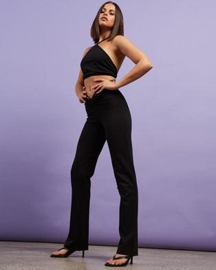 Dazie Ibiza Wrap Waist Pants - Pants (Black)