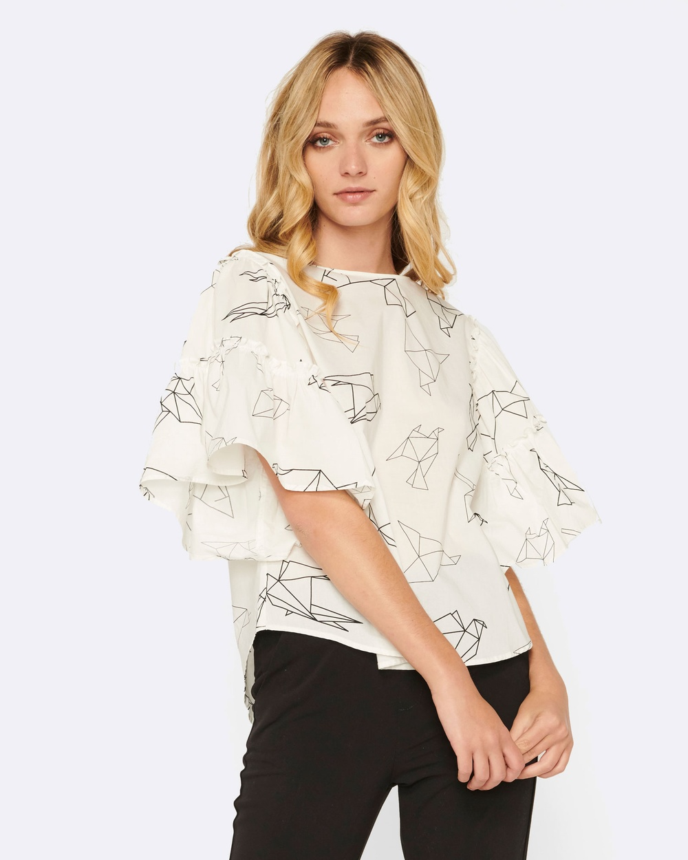 MVN Fly To Your Heart Shirt Tops White Fly To Your Heart Shirt