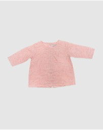 Goldie & Ace - Frankie Linen Long Sleeve Top - Babies
