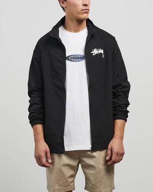Stussy Stock Taslon Zip Up Spray Jacket - Coats & Jackets (Black)