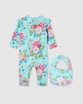 Milky The ICONIC Exclusive   Oriental Romper & Bib Set   Babies - Bibs (Oriental Floral)