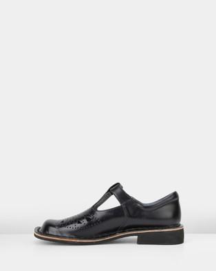 Harrison Indiana II School Shoes - Flats (Black Hi Shine)