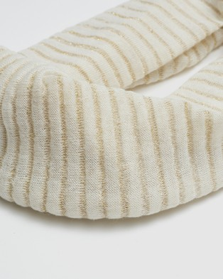 Kate & Confusion Lurex Eternity Scarf - Scarves & Gloves (Ivory)