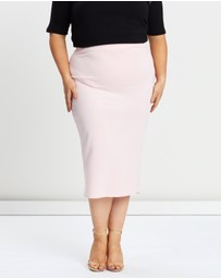 Missguided Curve - Scuba Midi Skirt