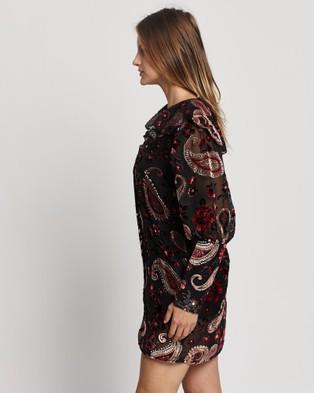 LENNI the label Firefly Burnout Sleeved Dress - Dresses (Rose)