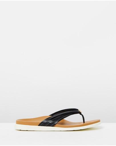 Vionic Catalina Toe Post Sandals Black
