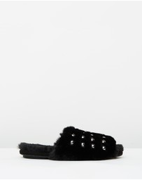SPURR - ICONIC EXCLUSIVE - Zeddie Faux Fur Slides