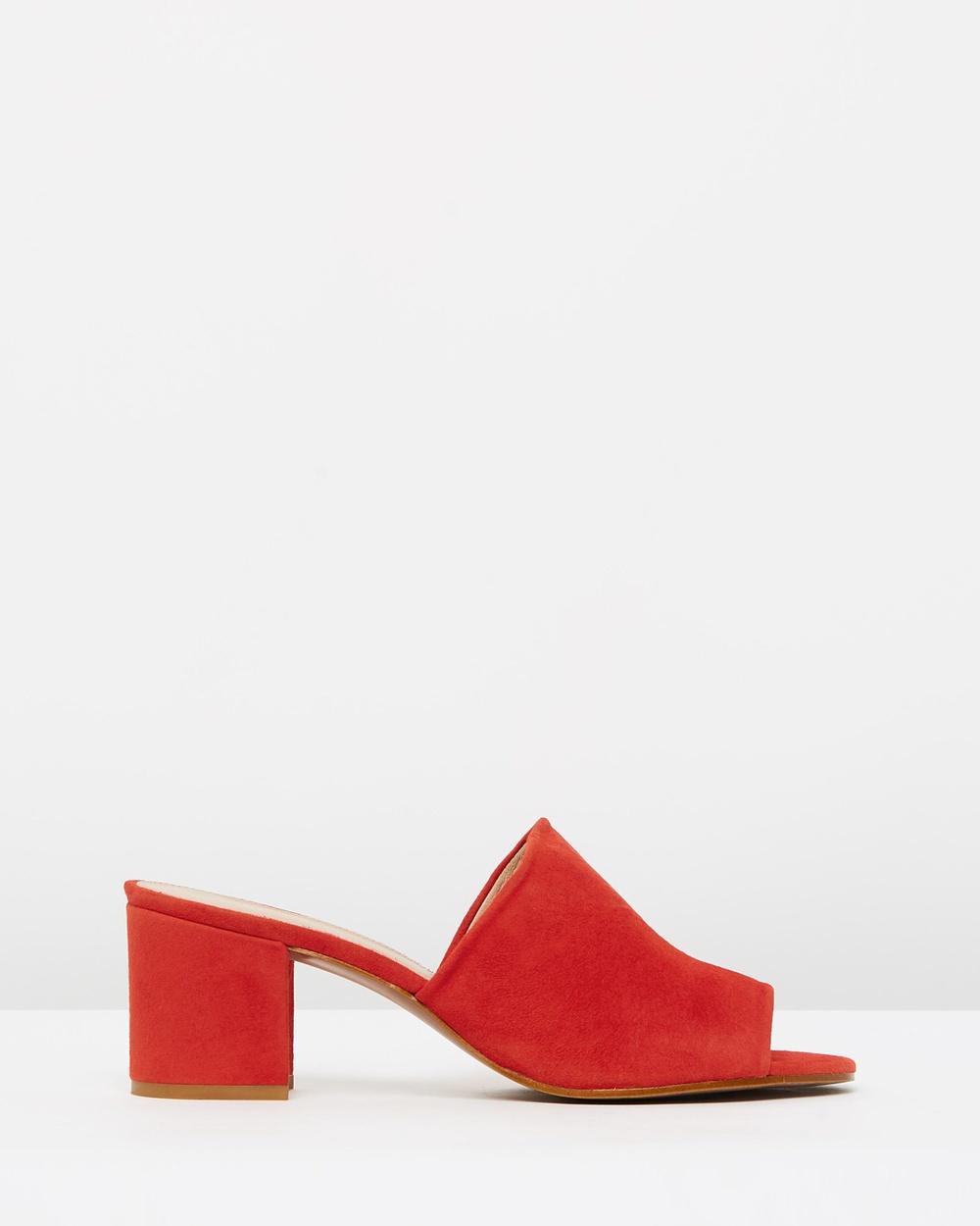 Whistles Amberley Mid Block Heel Mules Mid-low heels Red Amberley Mid Block Heel Mules