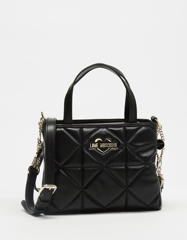 LOVE MOSCHINO - Quilted Handbag with Cross-Body Strap