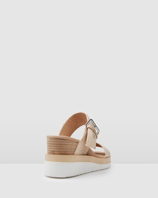 Jo Mercer Kayla Mid Heel Wedges - Sandals (Beige Multi)
