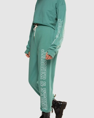 Jagger & Stone JS Trackie Pants - Sweatpants (Faded Teal)