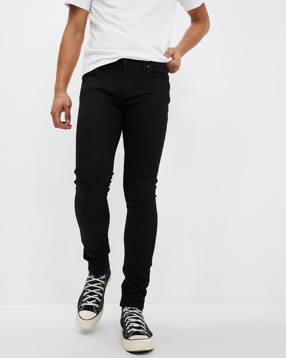 Wrangler Stomper Jeans Slim Super Sonic Black Australia