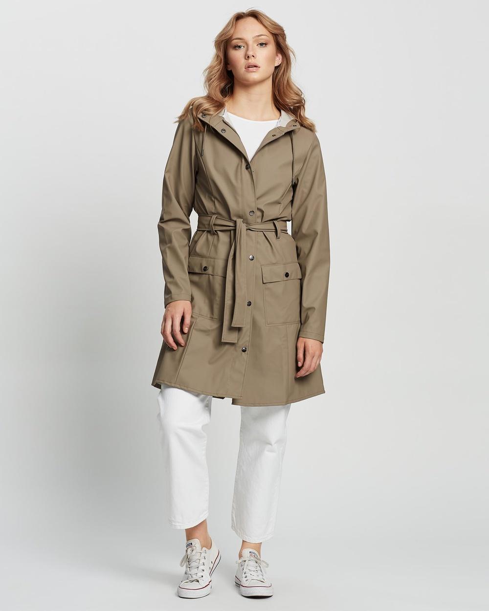 RAINS Curve Jacket Accessories Taupe