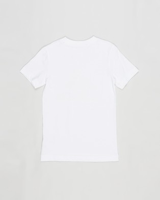 adidas Performance Must Haves Badge Of Sport T Shirt   Kids Teens - T-Shirts & Singlets (White & True Orange)