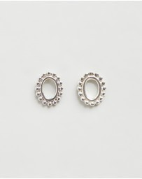 Natalie Marie Jewellery - Small Dotted Oval Stud Earrings