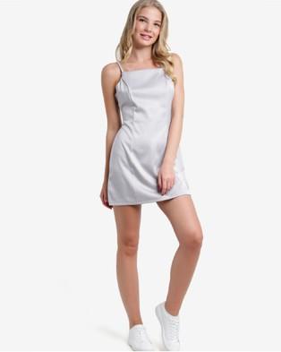 BoyFromBlighty – Silk Chiffon Strappy Mini Dress – Dresses (White)
